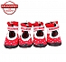 Dogspot Soft Cotton Shoes Red Size -4