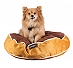 DogSpot Round Bed Brown & Yellow - Small - 24 Inches