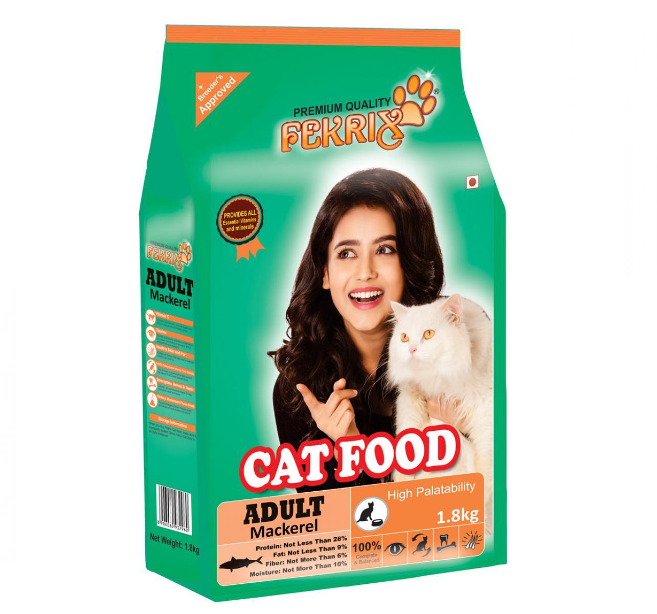 Fekrix Mackeral Adult Cat Food - 1.8 Kg