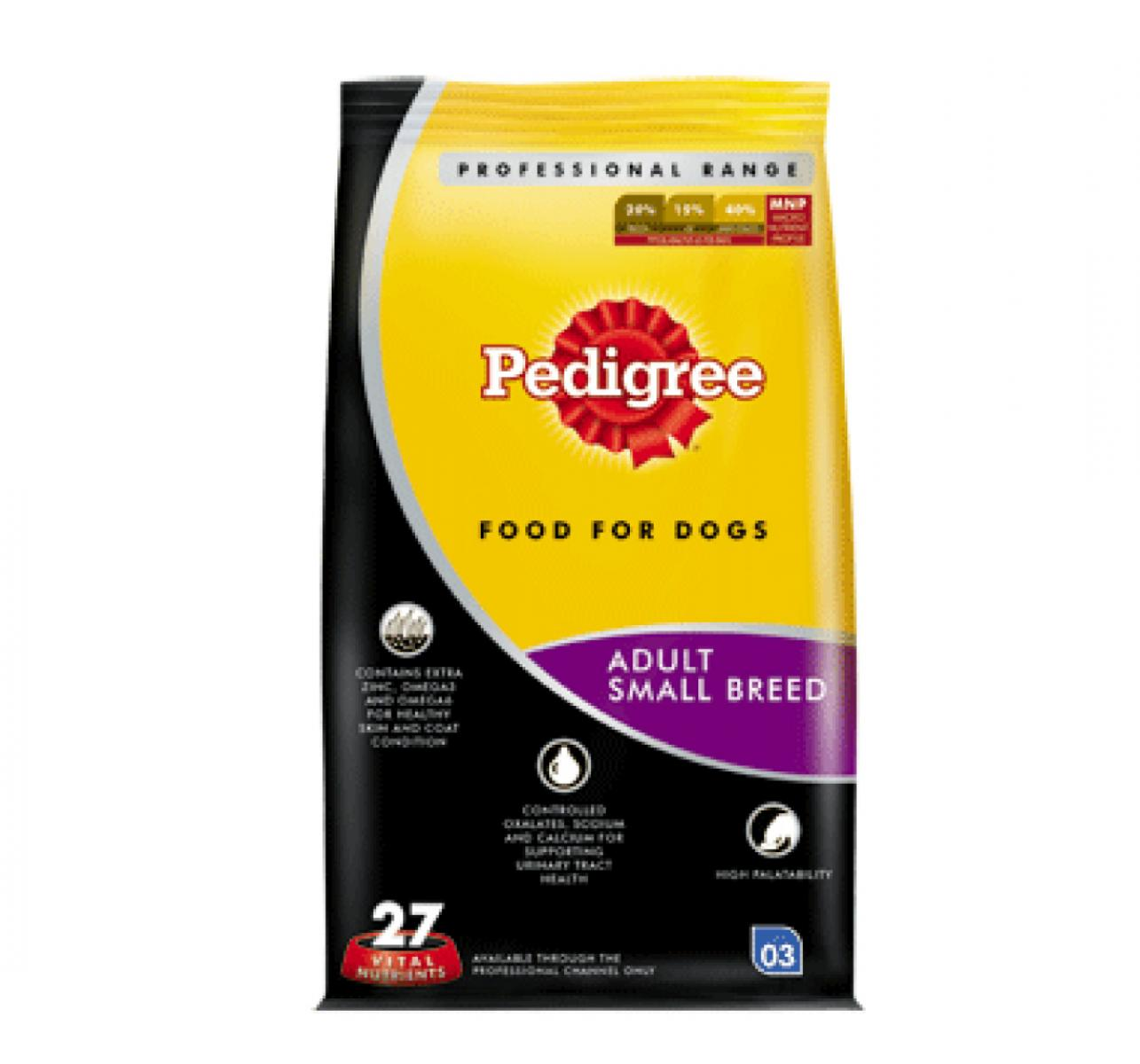 Pedigree Dog Food Adult Small Breed Professional - 3 Kg