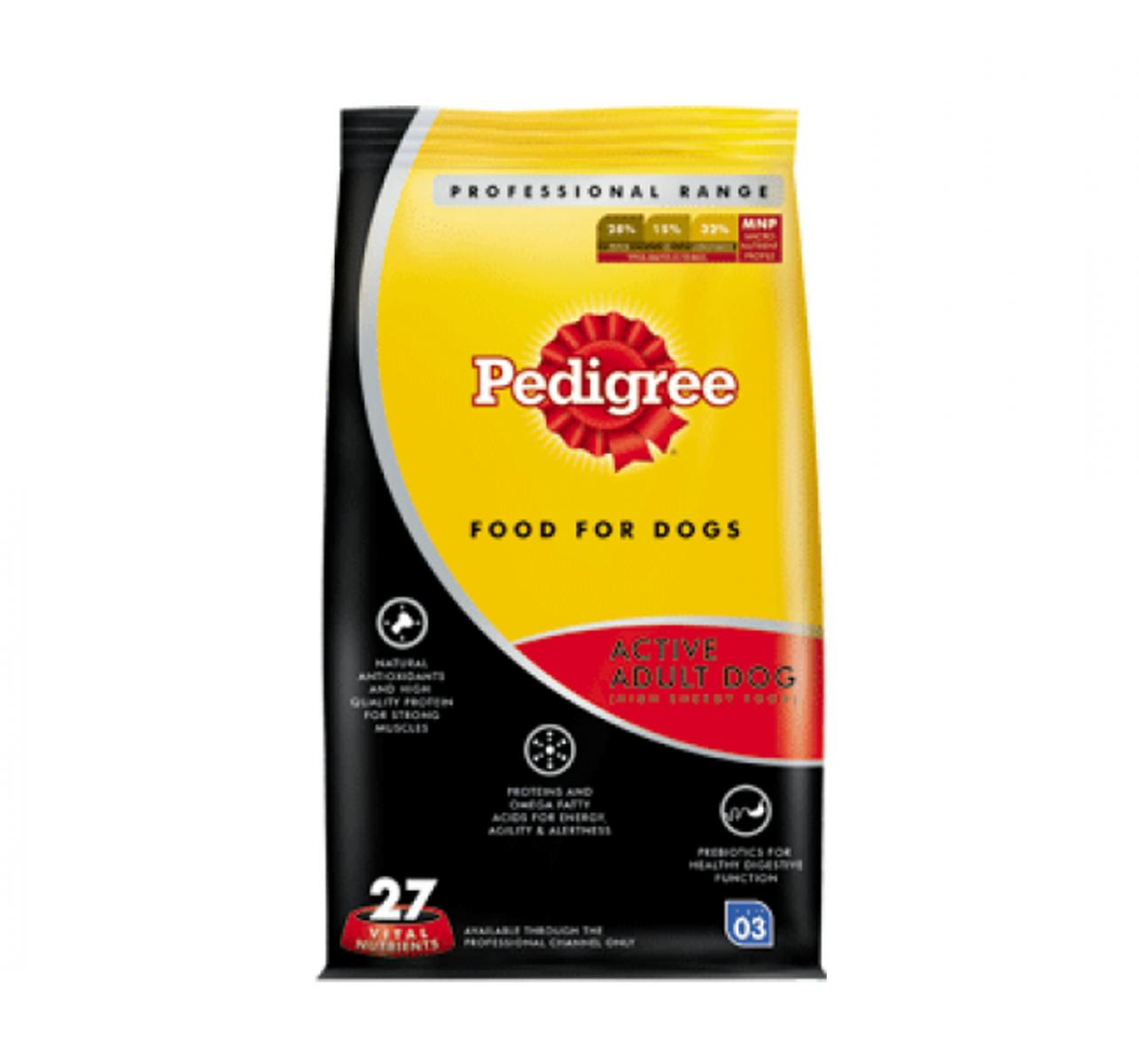 Pedigree Dog Food Active Adult Professional - 10 Kg