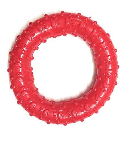 DogSpot Rubber Paw Print Circular Chew Toy