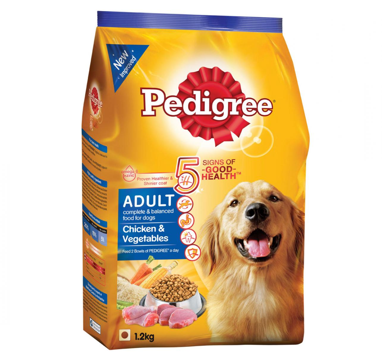 Pedigree Adult Dog Food Chicken & Vegetables - 1.2 Kg
