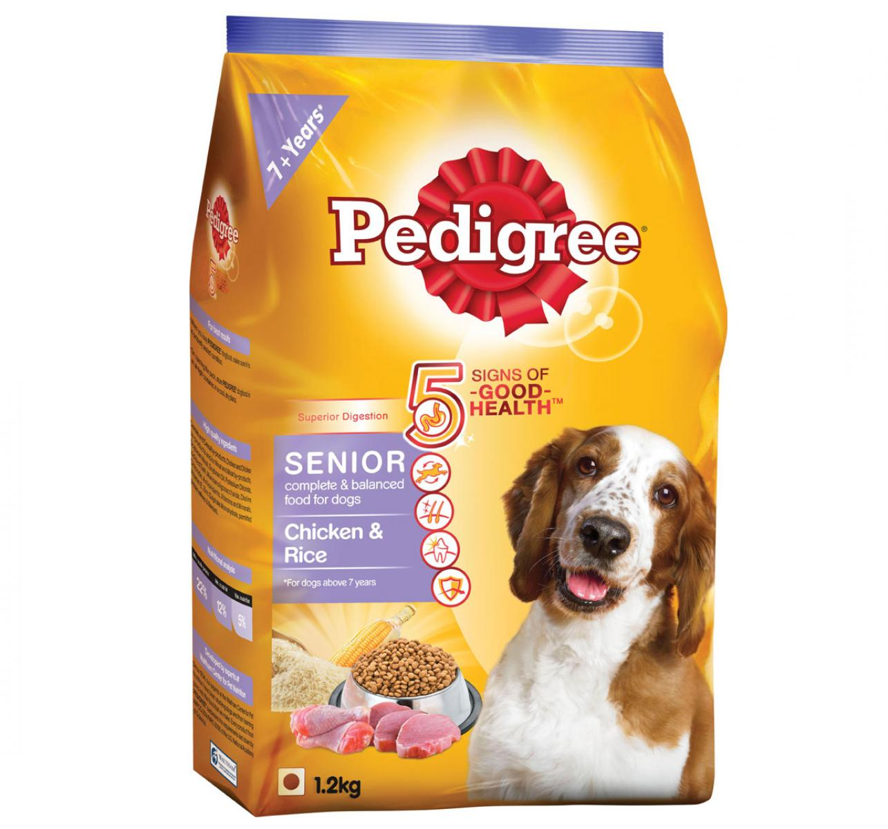 Pedigree Chicken & Rice For Senior Dog - 1.2 Kg