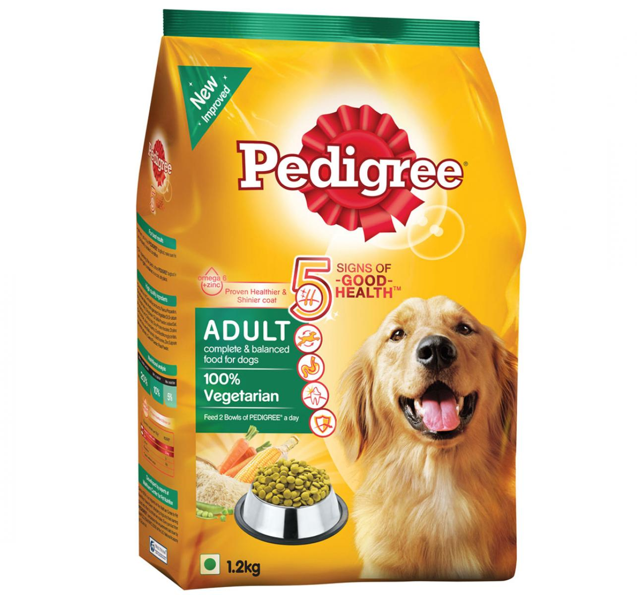 Pedigree Dog Food Adult 100% Vegetarian 1.2 Kg