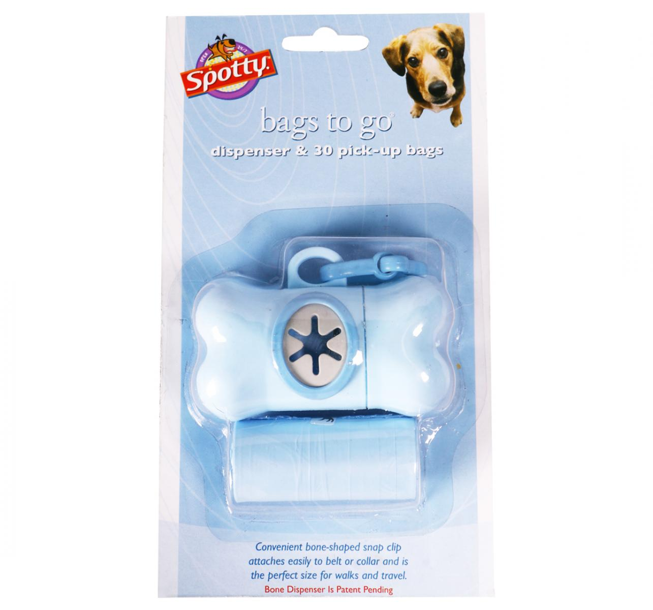 Spotty Bone Shaped Dispenser With Waste Pick-Up Bags - 30 Bags