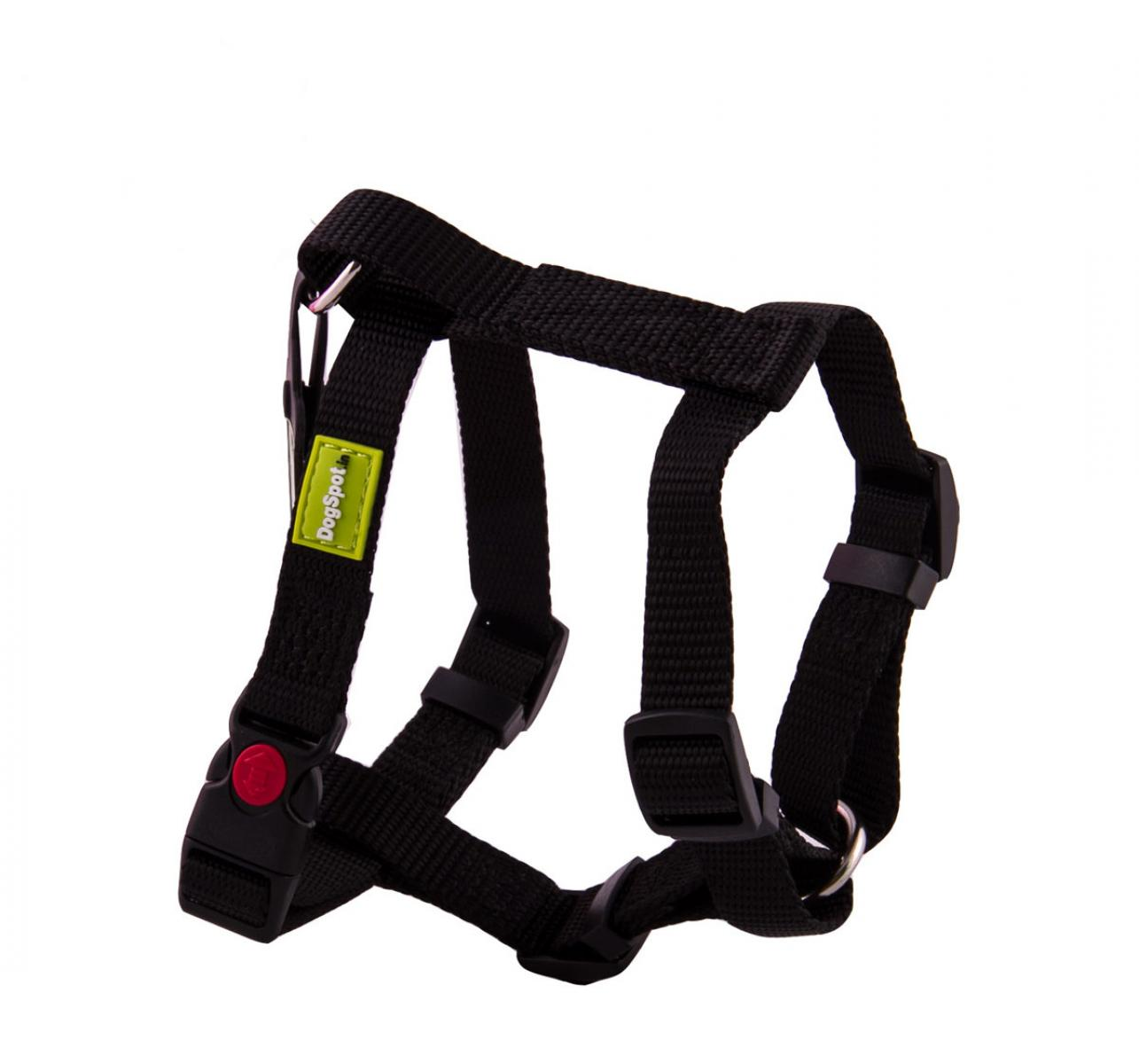 DogSpot Premium Harness Black 15 mm - Small