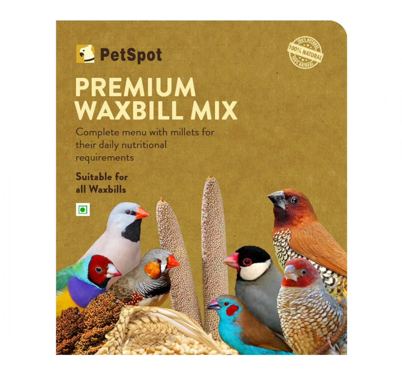 PetSpot Premium Wax Bill Mix - 800 gm