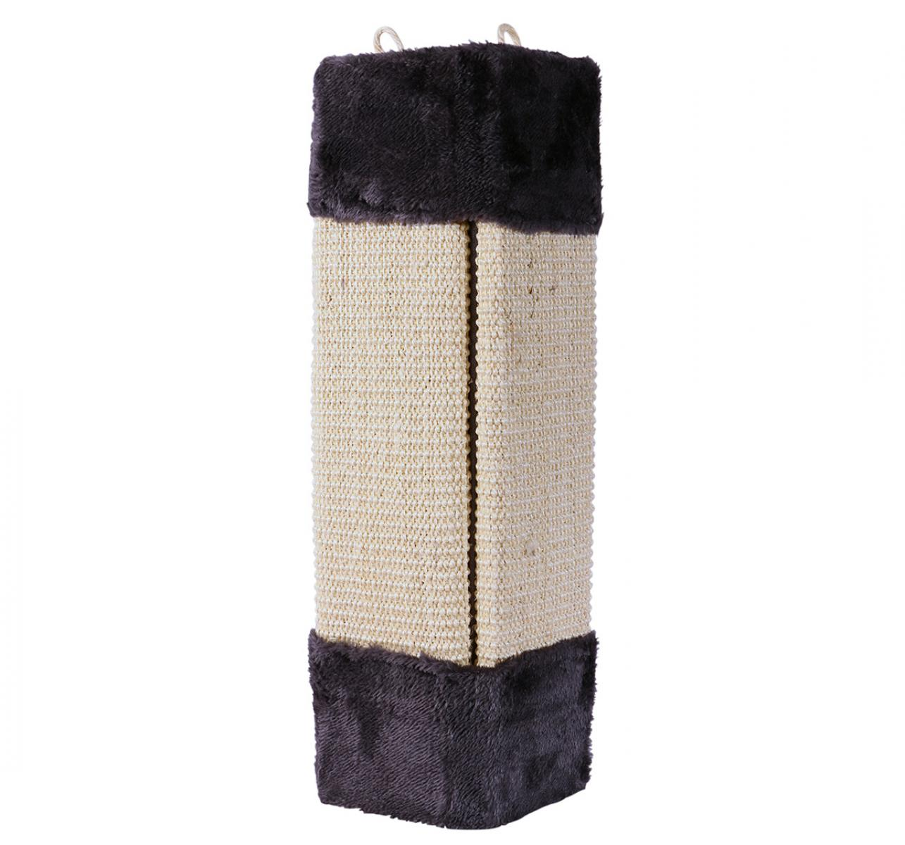 CatSpot Cat Wall Scratch Post (BxH - 9.8x23.6) Inches - Grey