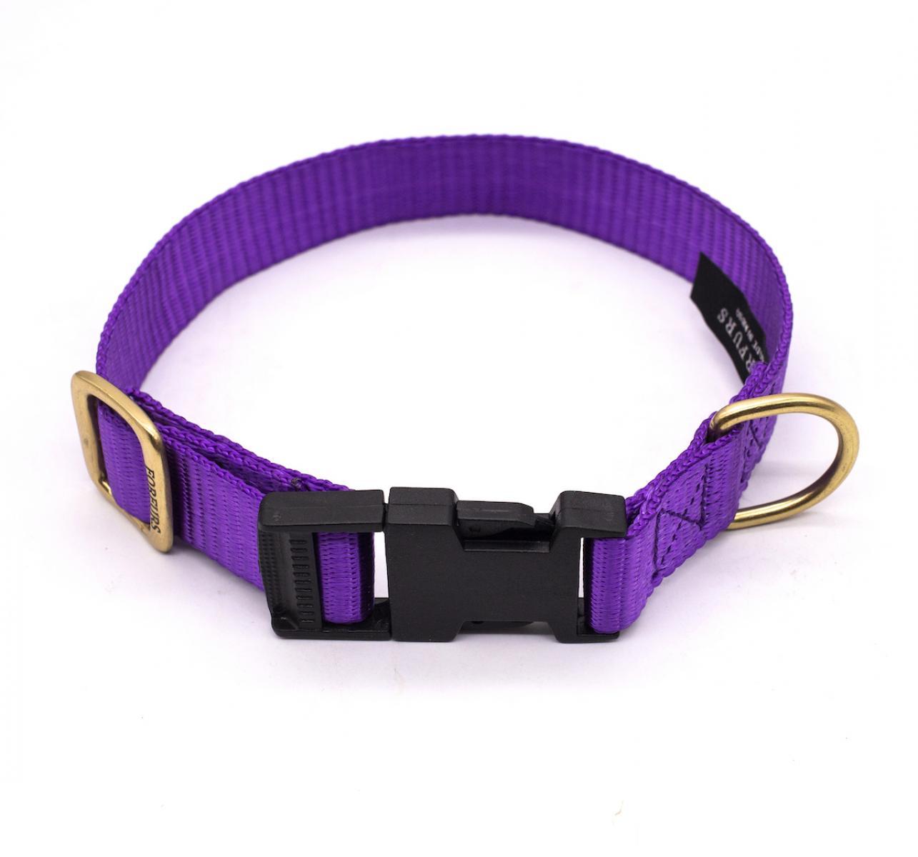 Forfurs Adjustable Classic Dog Collar Ultra Violet - large
