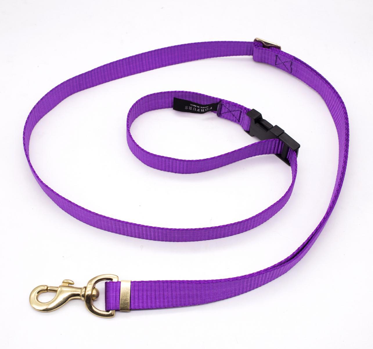 Forfurs Adjustable Protean All Breed Leash - Ultra Violet