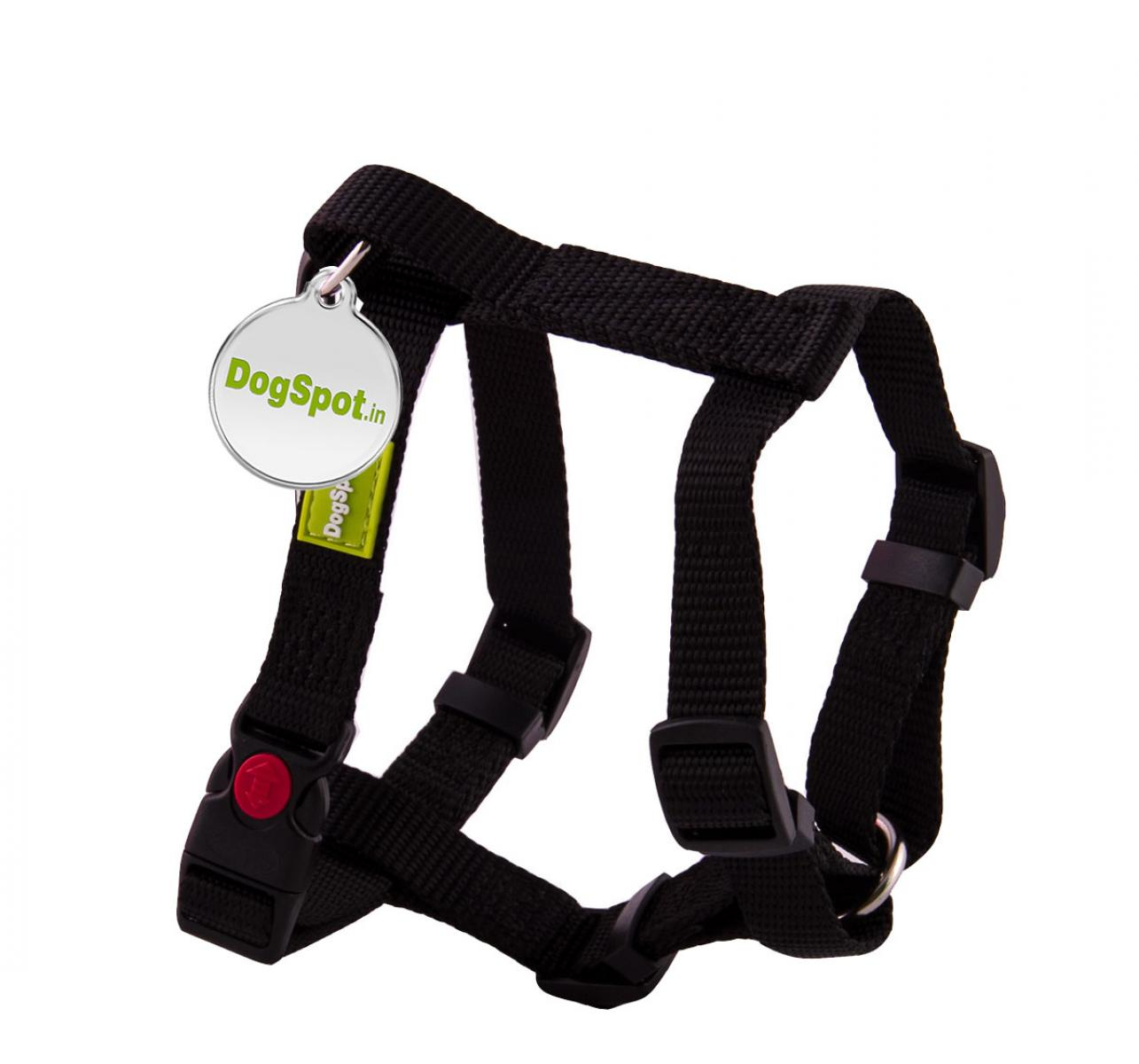 DogSpot Premium Harness Black - Small With Wag Tag