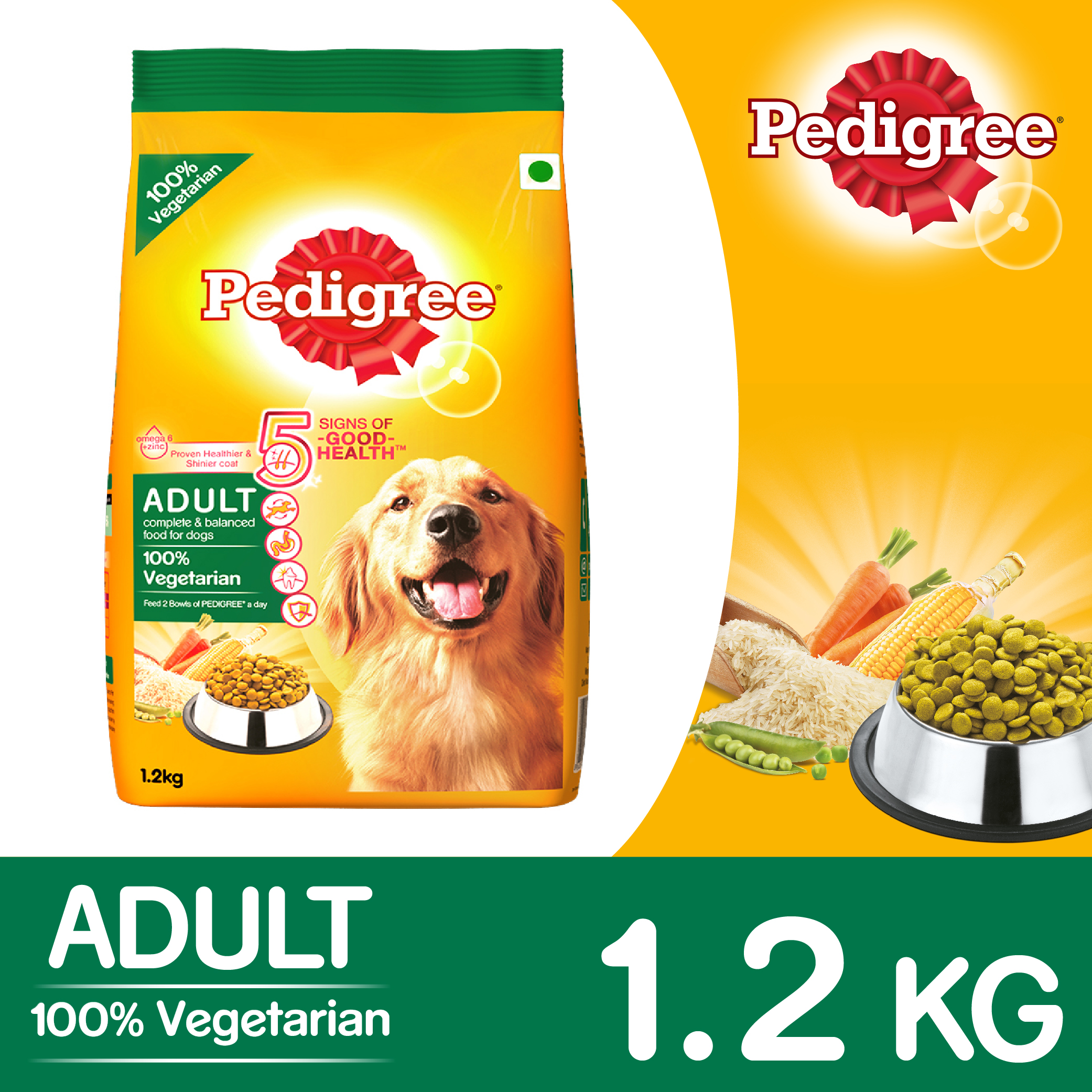 Pedigree Dog Food Adult 100 Vegetarian 1 2 Kg Dogspot Online