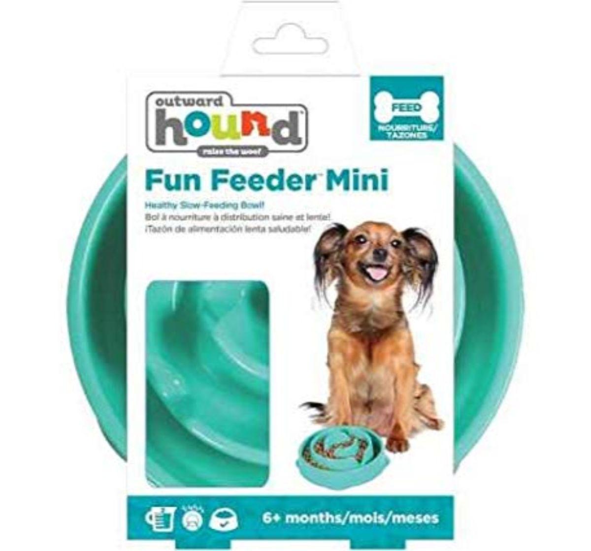 Outward Hound Fun Feeder Slo-Bowl Mini Slow Feeder - 25 cm