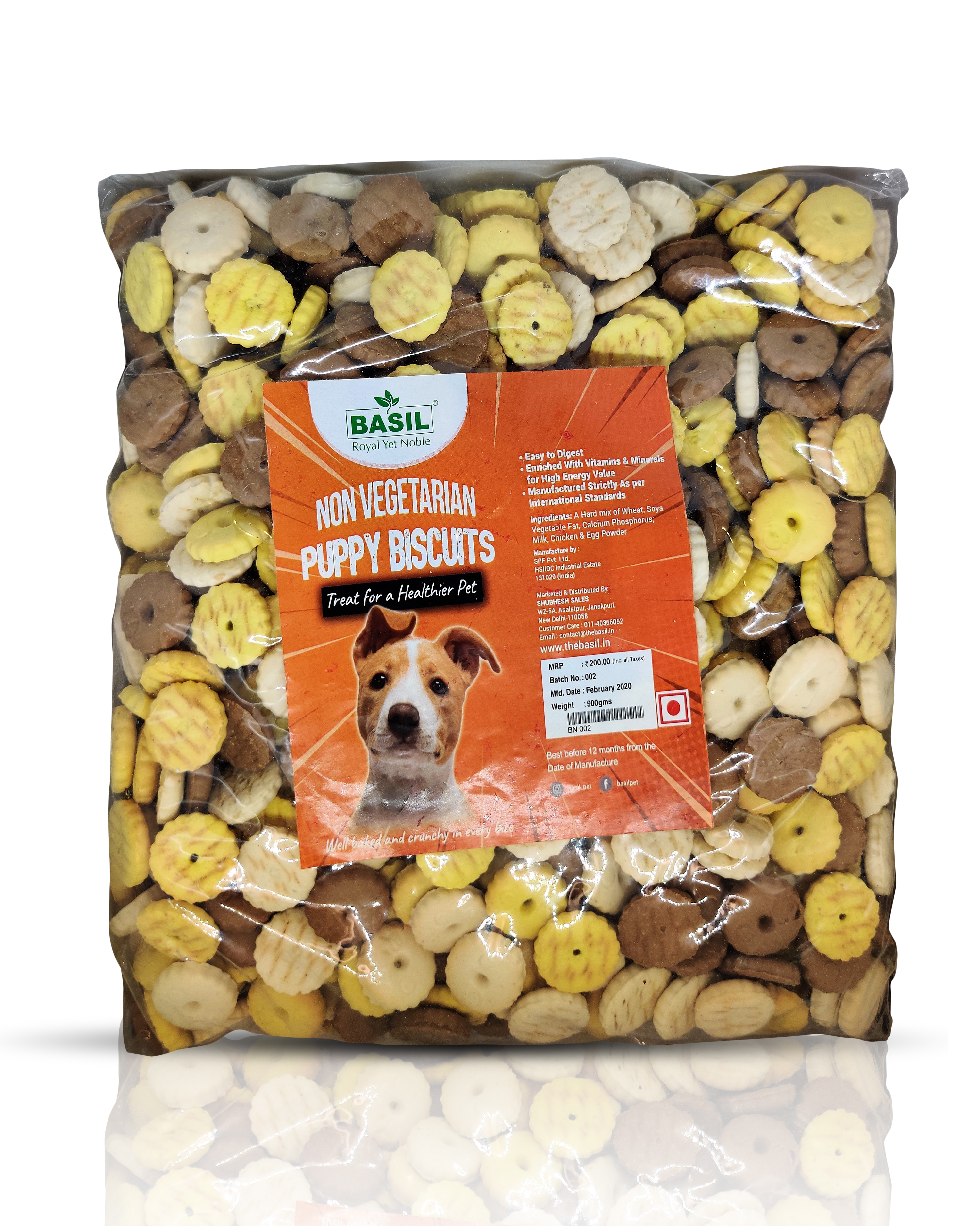Basil Non-Veg Puppy Training Biscuit - 900 gm