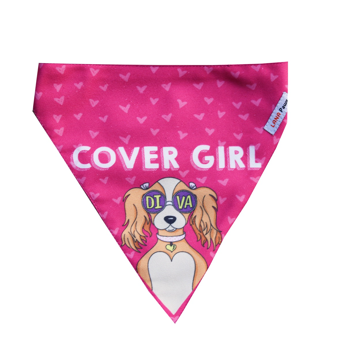 LANA Paws Cover Girl, Diva Adjustable Bandana -Small & Medium