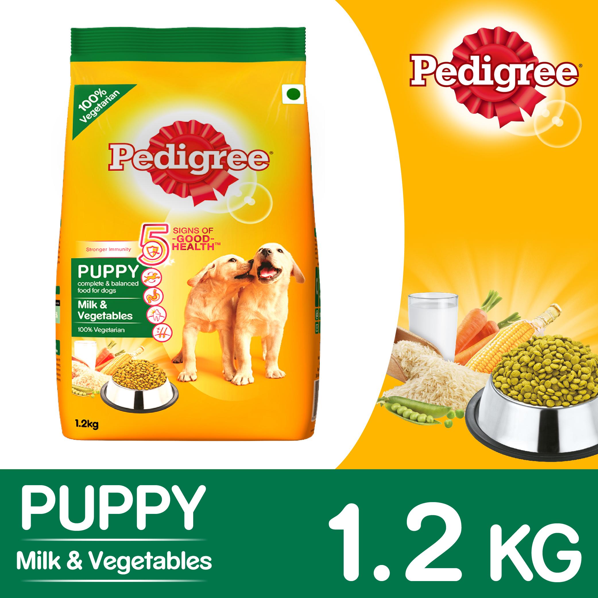Pedigree Puppy Milk Amp Vegetables Dog Food 1 2 Kg