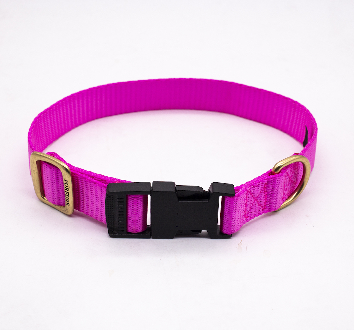 Forfurs Adjustable Classic Dog Collar Hot Pink - Small