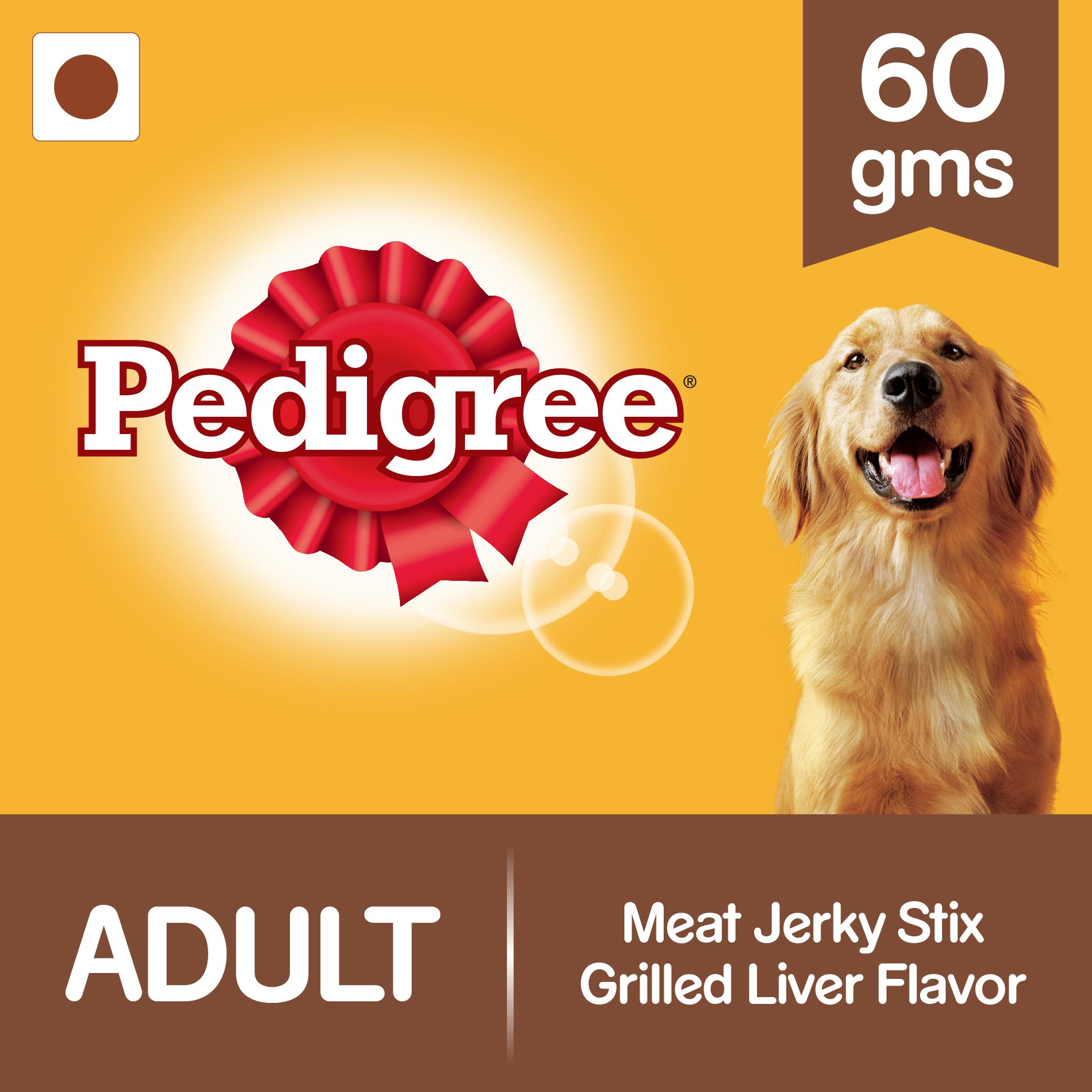Pedigree Meat Jerky Stix Grilled Liver Flavor - 60 gm (Pack of 12)