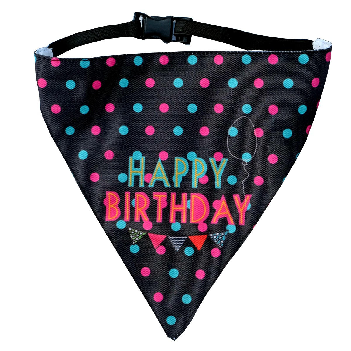 LANA Paws Happy Birthday Adjustable Bandana -Small & Medium