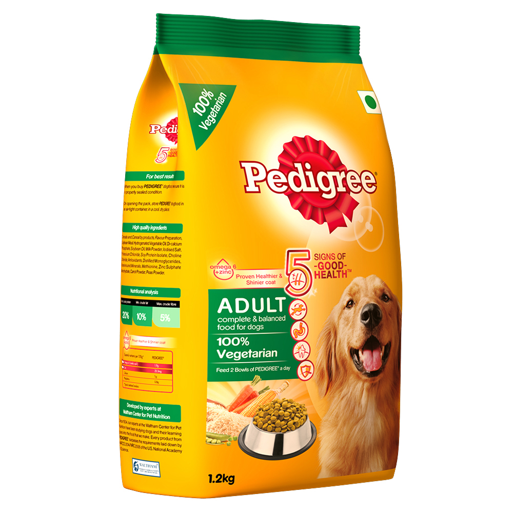 pedigree dog food adult 100 vegetarian 1 2 kg dogspot online pet supply store. Black Bedroom Furniture Sets. Home Design Ideas