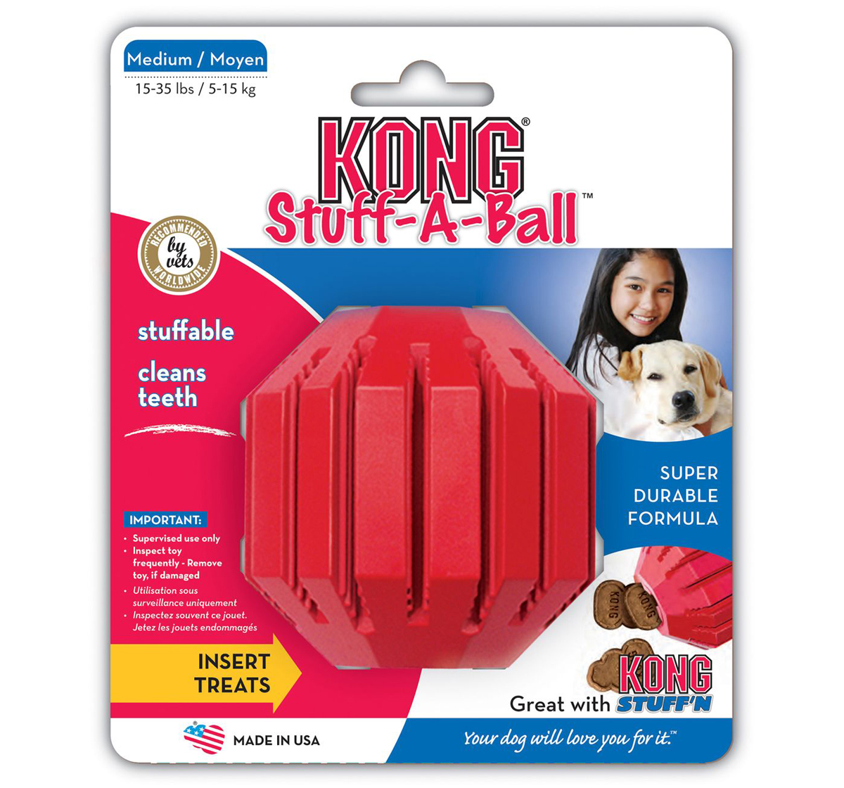 KONG Stuff A Ball Red Medium