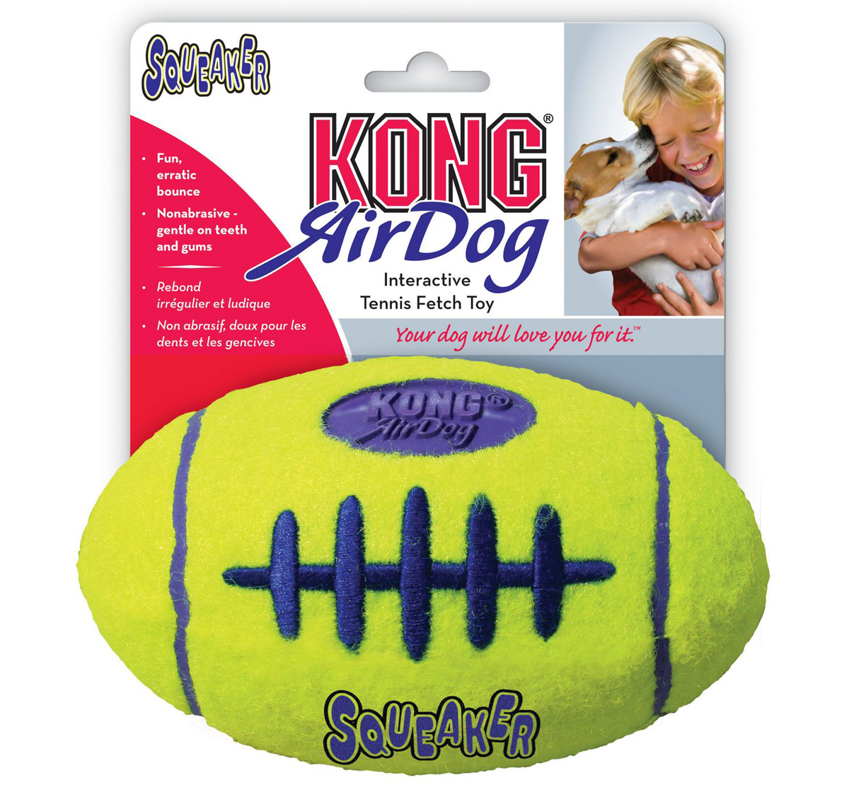 KONG Air Dog Squeaker Football Medium