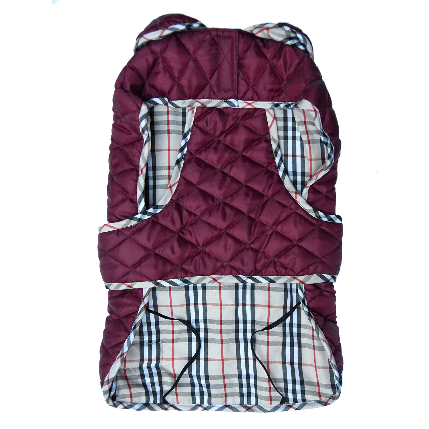 Mutt Of Course Pupberry Jacket Burgundy -5XLarge