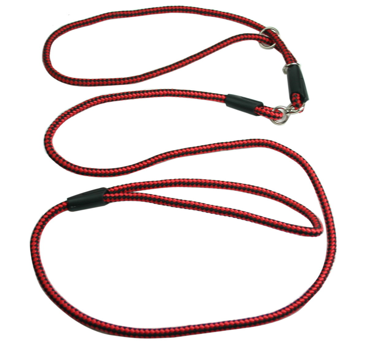 Nylon Dog Show Leash Red for Medium and Large Dogs