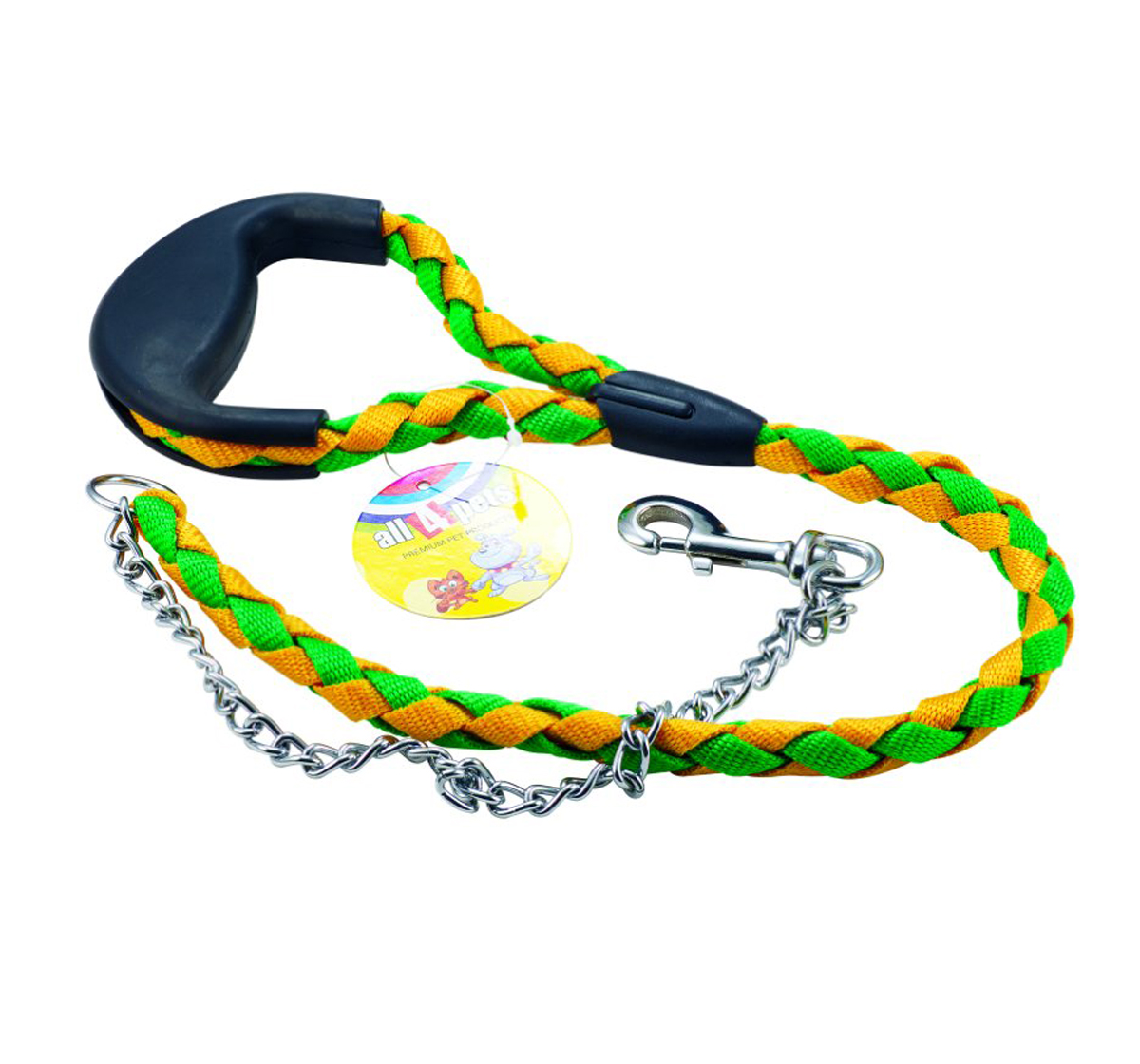 Dog Rope Leash With Chain Nylon | DogSpot - Online Pet ...