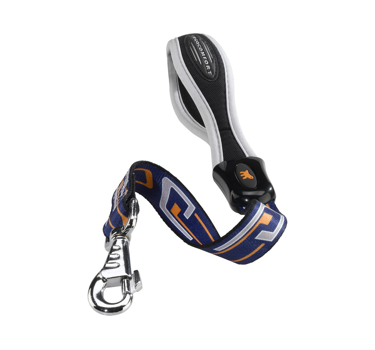 Ferplast Ergocomfort Tattoo Leash For Large Dog With Short Length - 21 inch - Blue