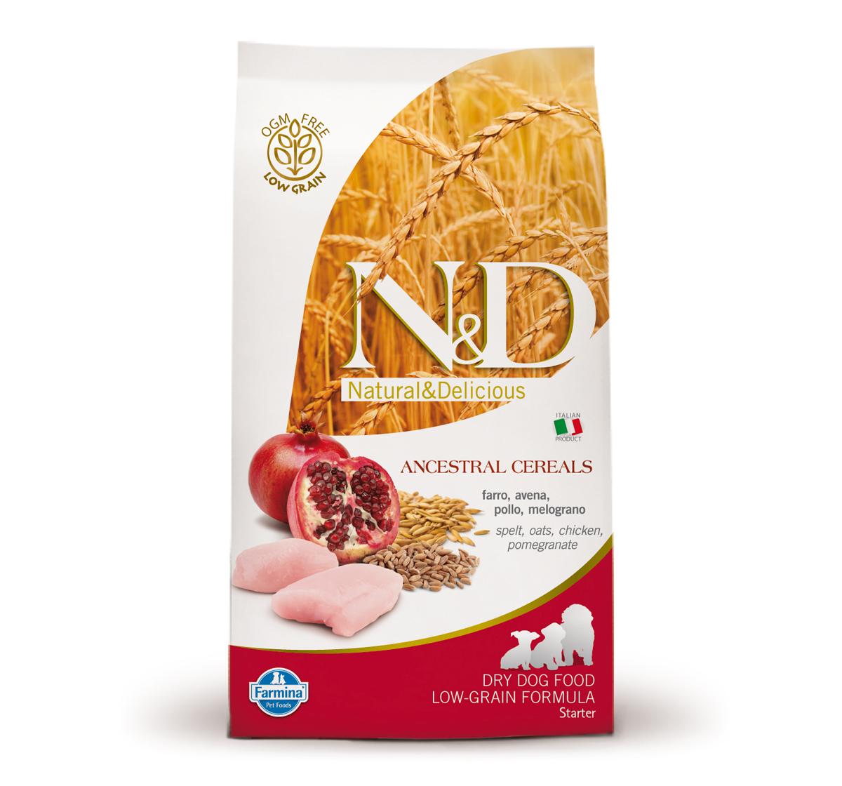 Farmina N&D Dry Dog Food Chicken & Pomegranate Starter Puppy - 0.8 kg