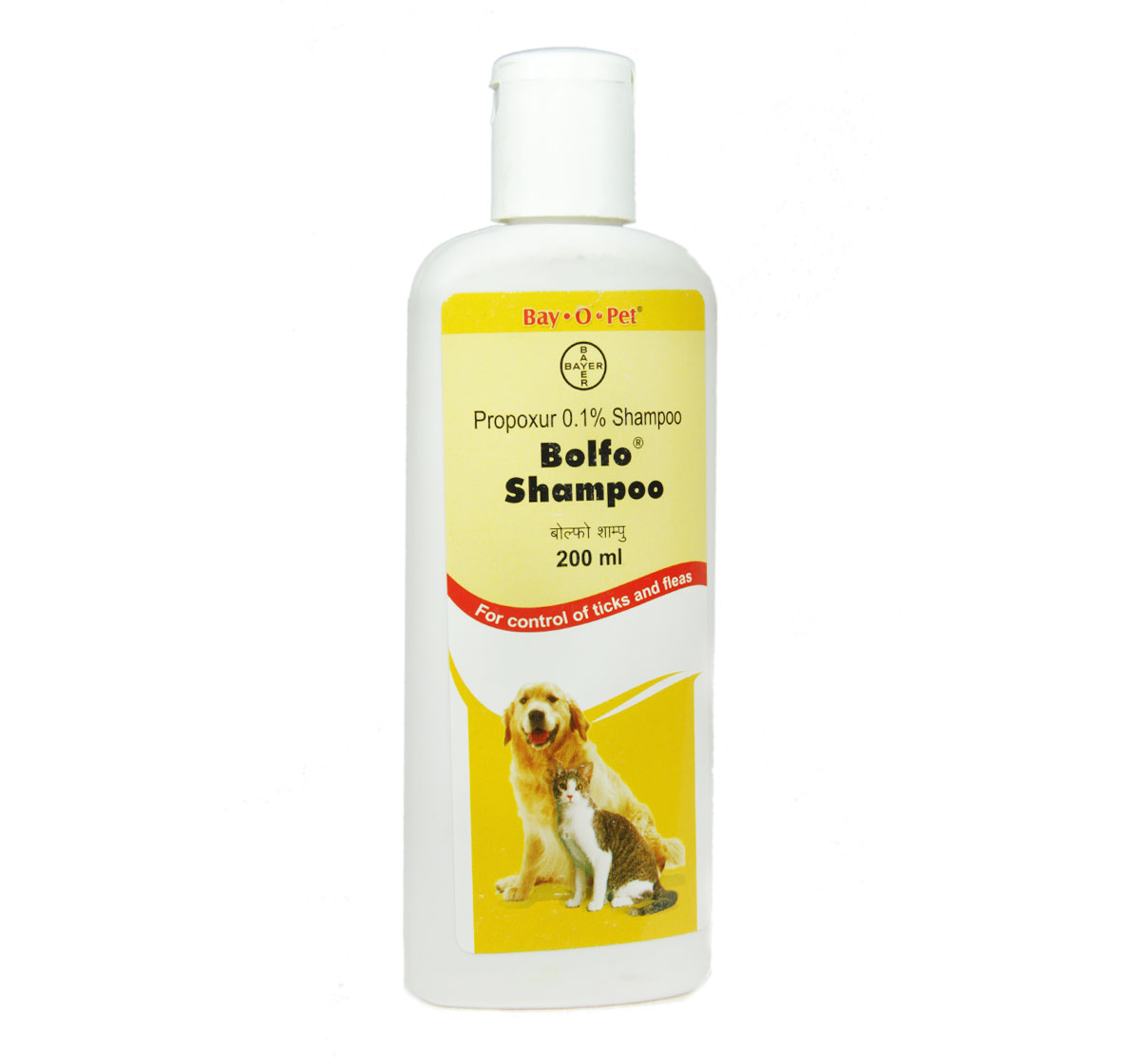 Bayer Bolfo Anti Tick & Flea Shampoo For Dog & Cat - 200 ml