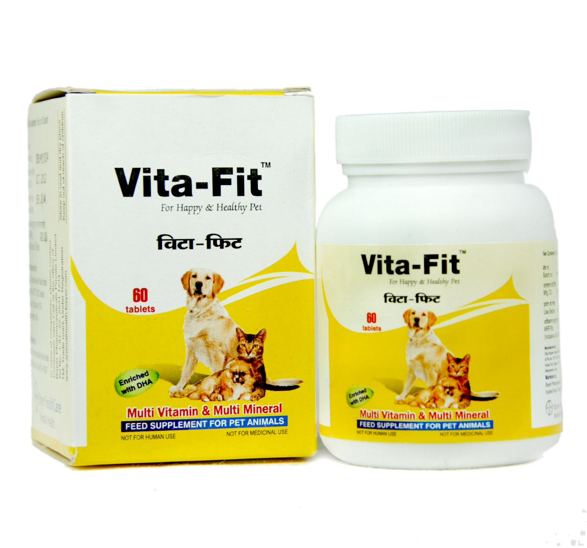 Bayer Vita-Fit Supplement For Dog & Cat - 60 Tablets