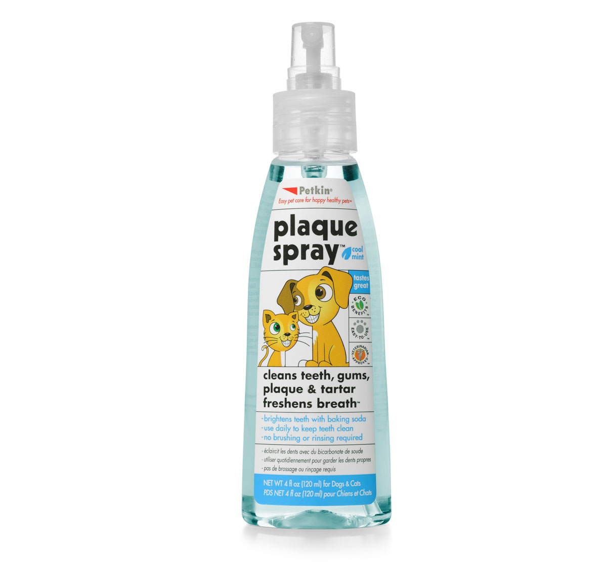 Petkin Plaque Spray Cool Mint For Dog & Cat - 120 ml