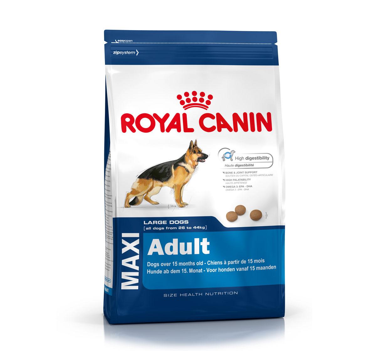 royal canin maxi adult 4 kg dogspot online pet supply store. Black Bedroom Furniture Sets. Home Design Ideas