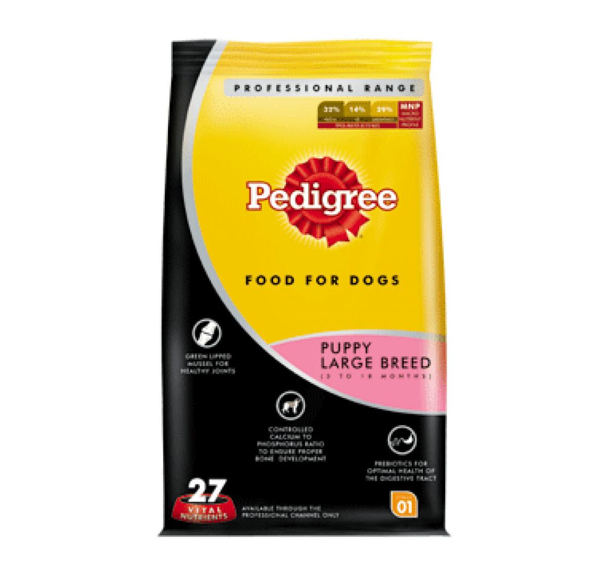 Pedigree Dog Food Puppy Large Breed Professional