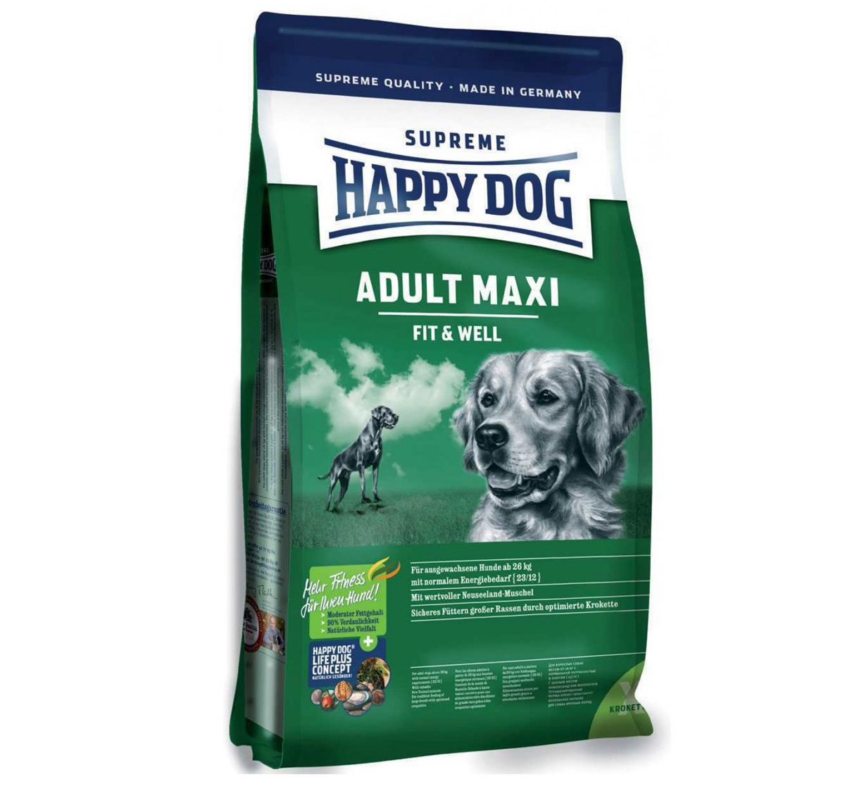 happy dog maxi breed adult dog food 15 kg dogspot online pet supply store. Black Bedroom Furniture Sets. Home Design Ideas
