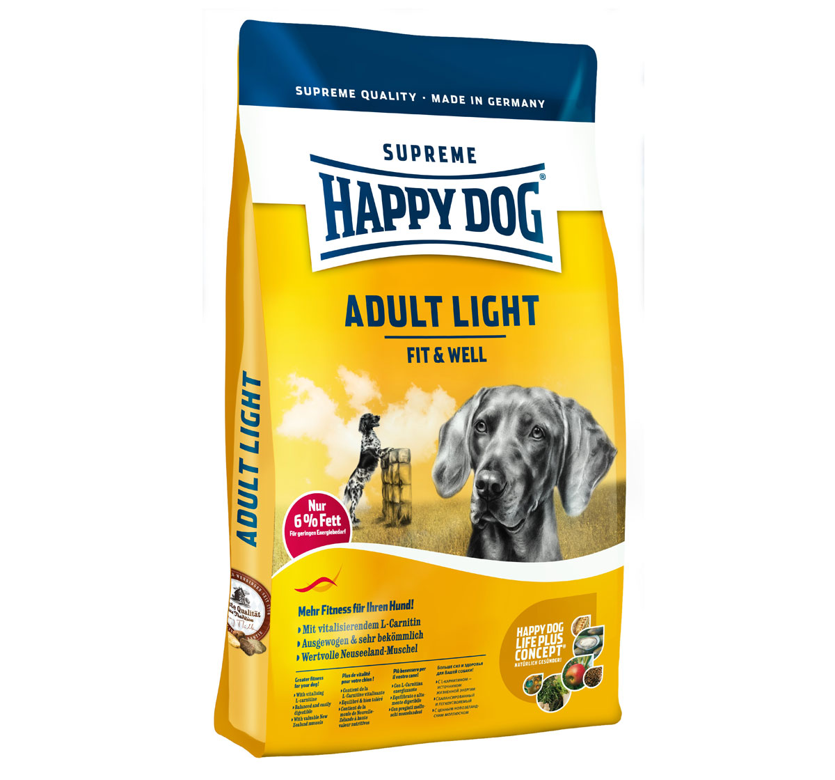 happy dog light adult dog food 12 5 kg dogspot online pet supply store. Black Bedroom Furniture Sets. Home Design Ideas