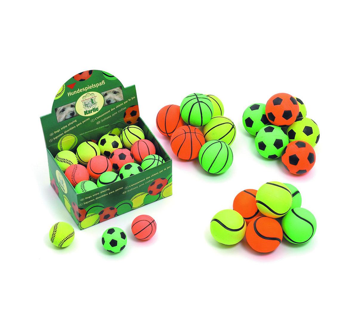 Karlie Neon Balls Dog Toy Assorted - 9cm