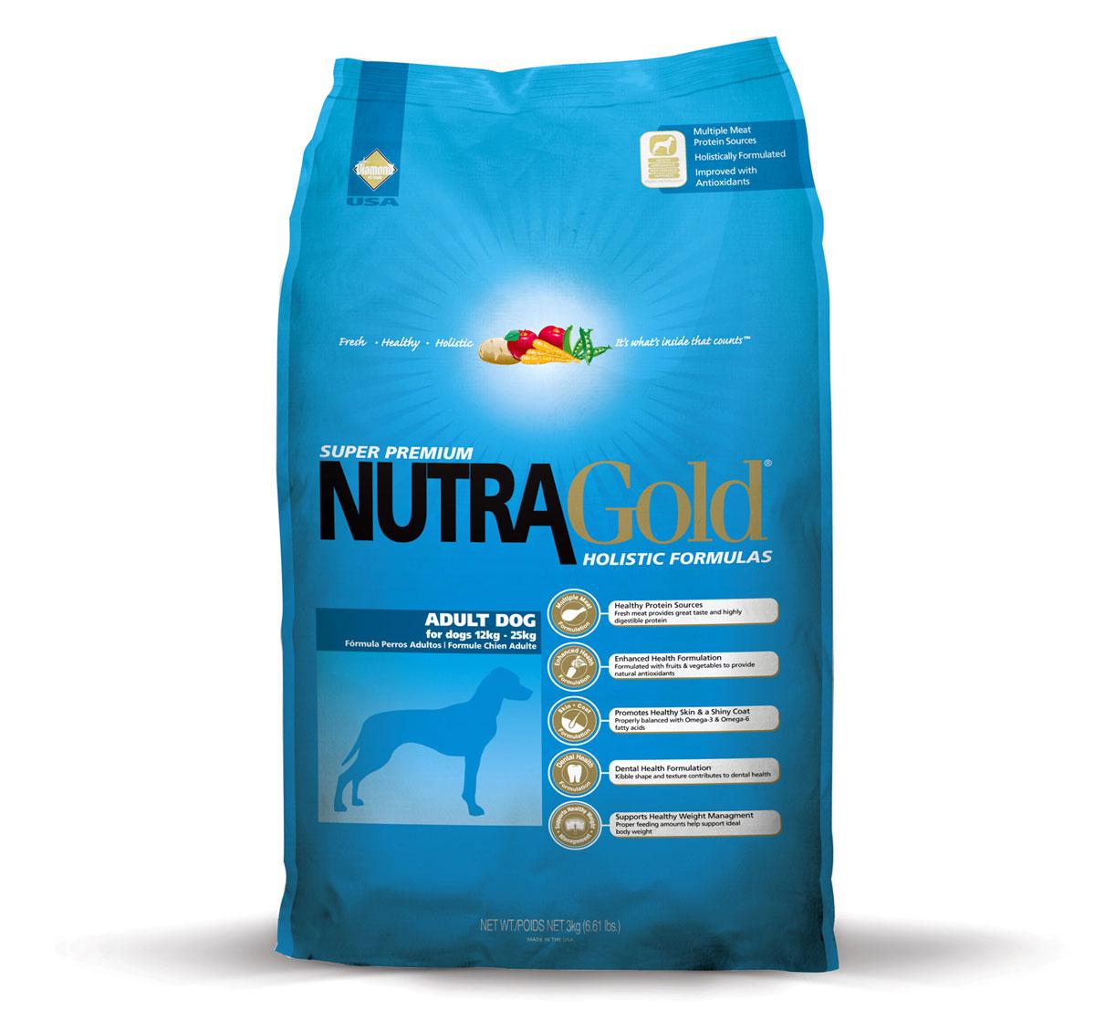 nutra gold holistic adult dog food   3 kg dogspot