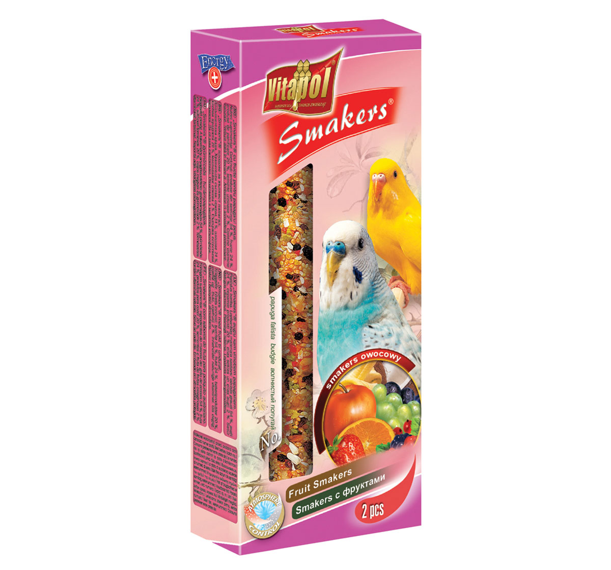 Vitapol Fruit Smakers For Budgerigar - 90 Gm
