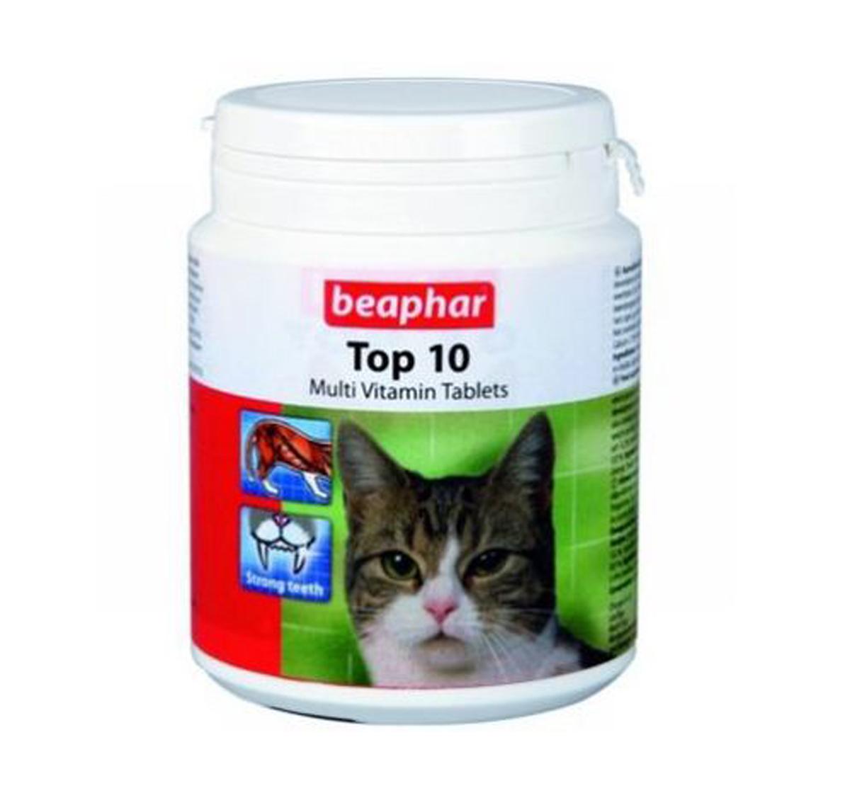 Beaphar Top 10 Multivitamin Cat Supplement  - 30 Tablets