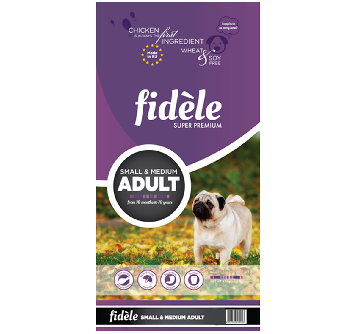 Fidele Small & Medium Breed Adult Food - 4 kg