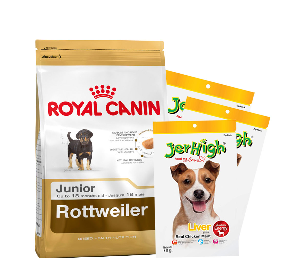 Royal Canin Rottweiler Junior - 12 Kg with Treats