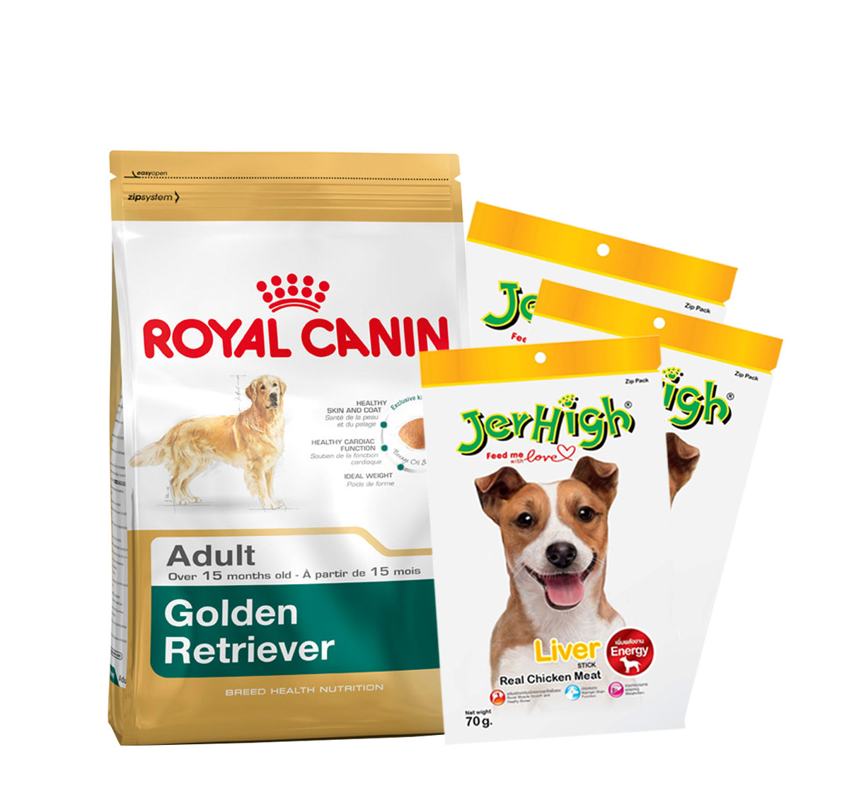 Royal Canin Golden Retriever Adult - 3 Kg with Treats