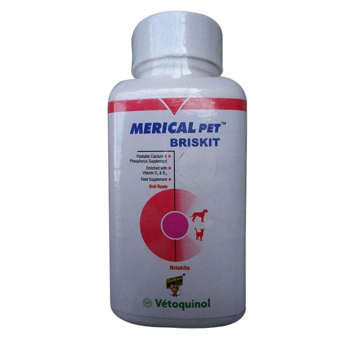 Vetoquinol Merical Briskit Calcium Supplement 100 Tablet