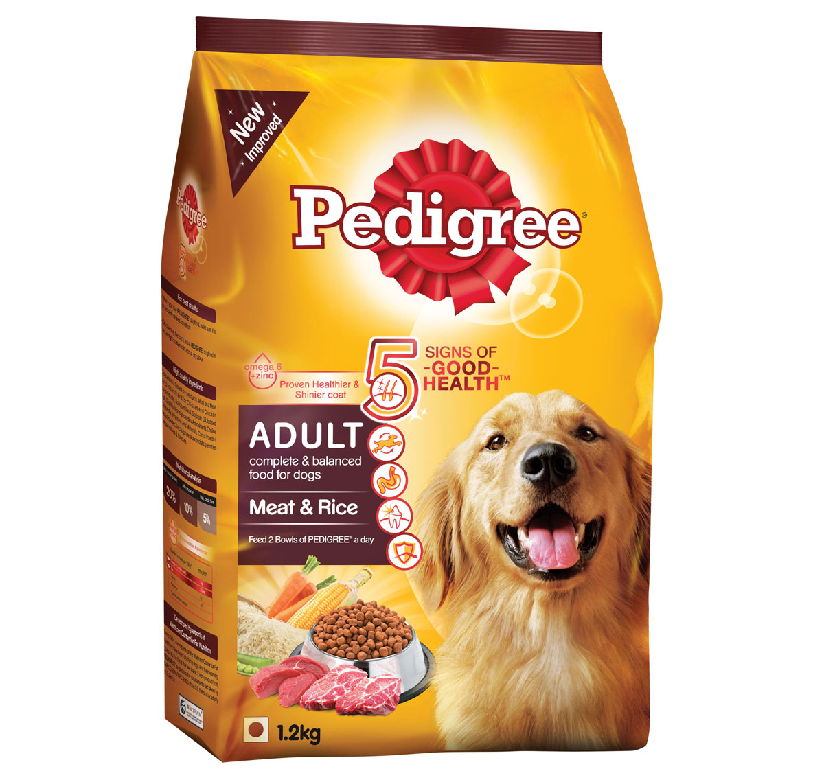 Yellow Dry Dog Food Kg