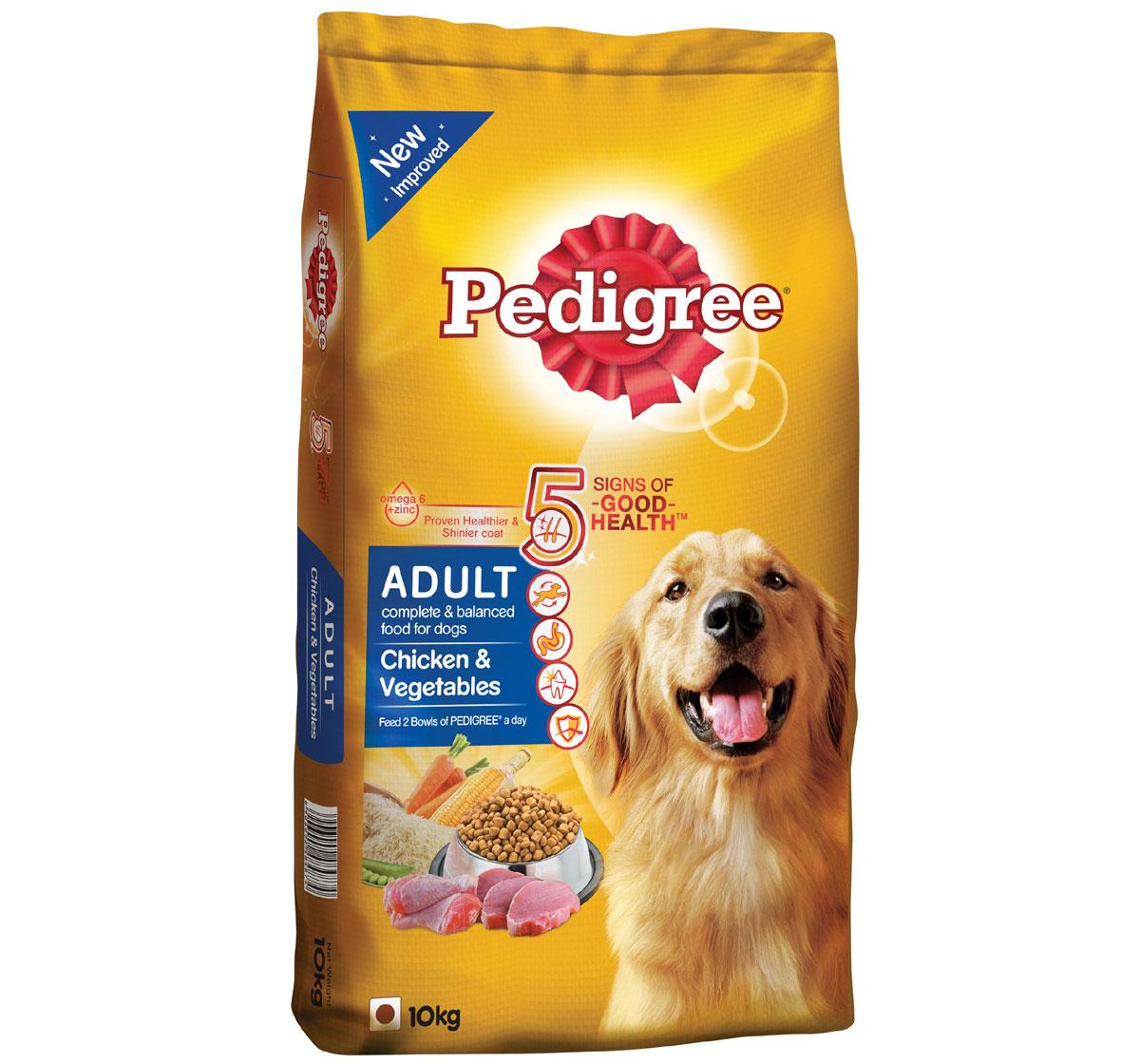Pedigree Adult Dog Food Chicken & Vegetables -  10 Kg