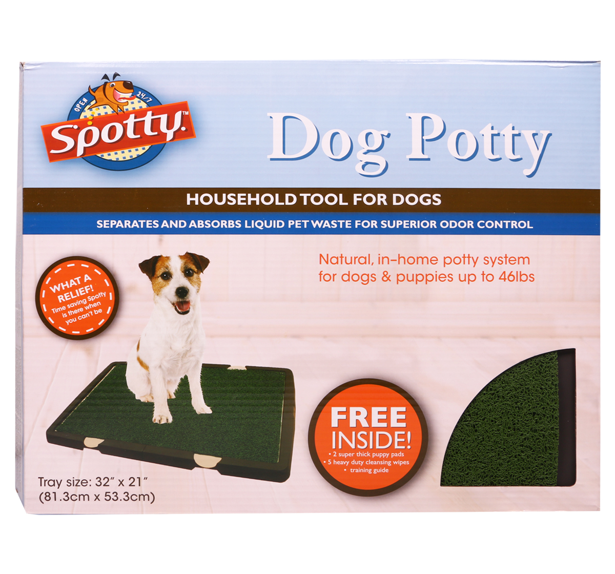 Spotty Indoor Toilet Training Tray (LxW- 32x21 inches)